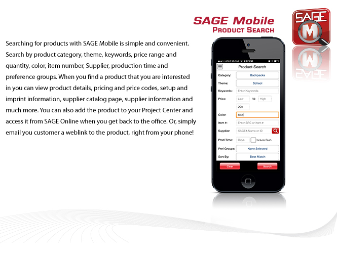SAGE Mobile Features