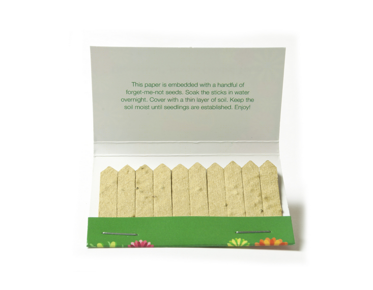 Seed Paper Matchbook