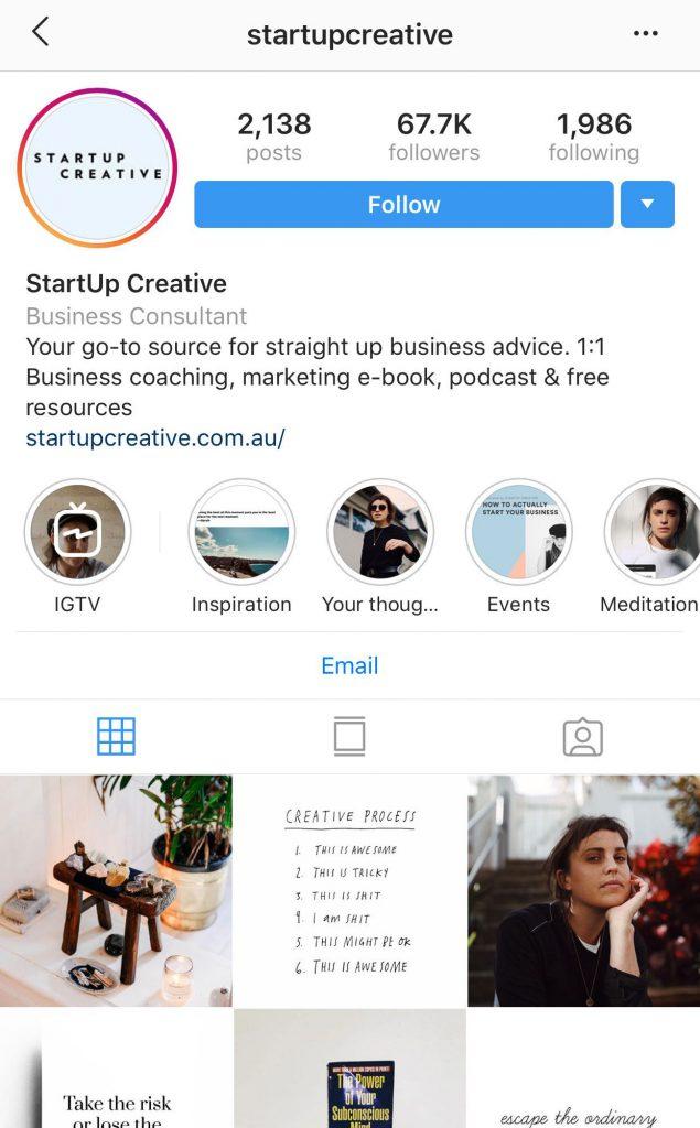 StartUp Creative Instagram