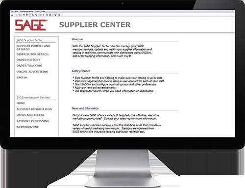 SAGE Supplier Center