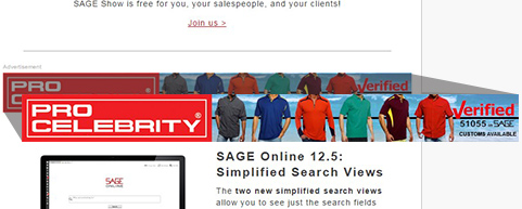 SAGE Newsletter Advertising Opportunity Top Banner Advertisement