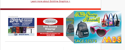 SAGE Newsletter Advertising Opportunity Side Tile Advertisement