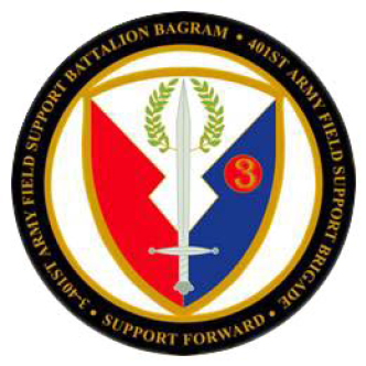 Army Field Support Battalion Bagram before Artwork Zone