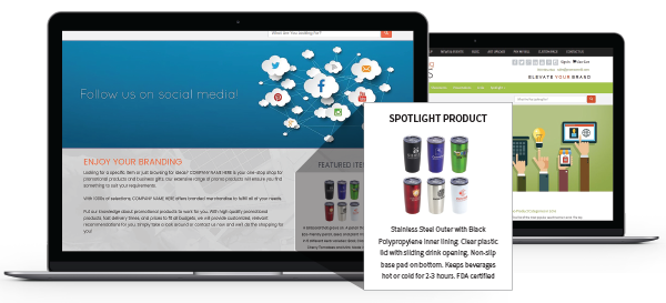 Distributor Website Spotlight Product Ad