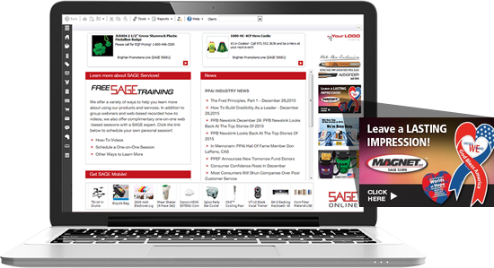 SAGE Front Page Banner Ad
