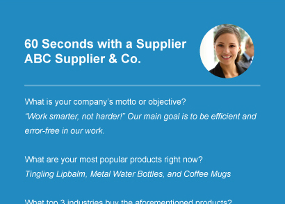 60 Seconds with a Supplier